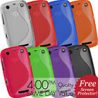 SILICONE GEL CASE COVER & SCREEN PROTECTOR FOR BLACKBERRY CURVE 9360