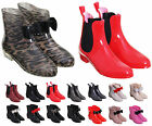 WOMEN'S FRONT BOW ANKLE LENGTH SHORT WELLIES/WELLINGTONS RAIN BOOTS IN UK 3-8