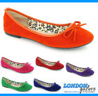 LADIES FLAT PUMP BALLERINA SHOE, WOMENS CASUAL FAUX SUEDE DOLLY SHOE (HARLEY)