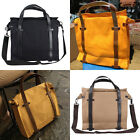 Fashion Cool Man's Canvas With Real Leather Handbag Buckled Messenger Bags AB137