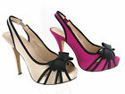 Womens VT Vintage Collection Luxury Dress Heels Bow Sling Back Sandals Size 3-8