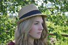 Unisex Cream Summer Trilby Fedora Hat