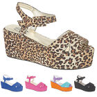 LADIES WOMEN'S FAUX SUEDE HIGH WEDGE HEEL SANDALS SHOES AVAILABLE IN UK SIZE 3-8