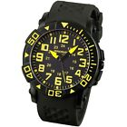 INFANTRY Mens Sport Quartz Watch Military Army Stainless Steel Black Rubber Band