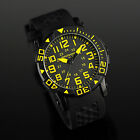 INFANTRY MILITARY ROTATABLE BEZEL MENS SPORT QUARTZ WATCH BLACK RUBBER STRAP NEW
