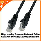 Black RJ45 Network Ethernet LAN Cat5e Cable 1m, 2m, 5m, 10m, 20m, 30m, 40m, 50m
