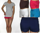 Women/Junior's Knit Classic Cotton Casual Shorts NEW
