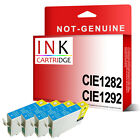 4 CYAN T1282 OR T1292 COMPATIBLE INKS Replace FOR STYLUS PRINTER