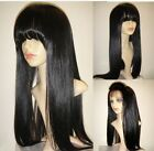 "14-20"" ful lace wig * lace front wig with bang/ fringe silky straight remi hair"