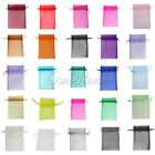 """100 x Small Strong Organza Pouch 2x2.7"""" 5x7cm Wedding Xmas Party Gift Bag Colors"""
