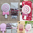 3D Sweet Lollipop Lollypop Gem Bling DIY cell Phone Shell Skin Case Deco Den Kit