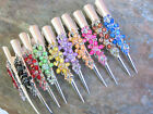 "BIG RHINESTONE FLOWER DESIGN HAIR CLAMP CLIP CHOICE OF COLORS 5"" LENGTH"