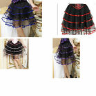 Burlesque Halloween Black long black net tutu skirt Fancy dress Gypsy Lolita