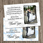 Personalised Wedding Photo Thank You Cards + Envs Pink, Blue, Many Colours TP2