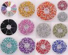 Lots 1500 pcs Diamond Shape Crystal Acrylic Rhinestone Bicone Beads 3*2mm