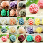 Wholesale Resin Cabochons Flatback rose daisy Dahlia Peony Flower Cameo vintage