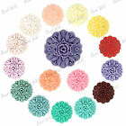 Resin Flatback Vintage Flower Cabochons Wholesale Lots 23x23mm RB0614