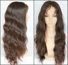 "12-24"" Luxurious 100% Virgin Malaysian Full Lace wig Natural Straight"