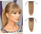 "instant clip-on 100% human hair ponytail extensions 16""-28"" any colors"