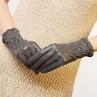 4 Color- Medival Gothic ltalian leather Ruched wrist length short gloves NWT