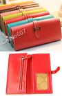 New Colorful Fashion Long PU Leather H Buckle Women Wallet Cluth Bag Lady Purse