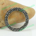 Fashion Classic Crystal Ring Pendant Connector Beads Fit Bracelet 3 Colors Pick