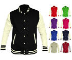 Womens Varsity Baseball College Button Up Sweater Jacket UK 12-22 NEW