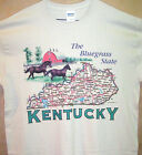 Kentucky State Map T Shirt Sz SM - 5XL Assorted Colors Horse Racing & Bluegrass