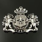 Vintage Silver Tone Alloy Crown Horse Shape Charm Pendant Finding Hot 35705-109B