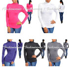 P38 -L/Large- 5 COLORS!Turtleneck,Long Sleeve,Stretchy Top.Black,Pink,White,Gray