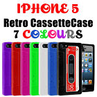 NEW RETRO VINTAGE TAPE CASSETTE GEL SILICONE SKIN CASE COVER FOR IPHONE 5 5G