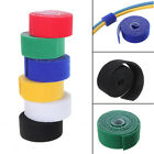 New 25mm x 1 Metre Reusable Cable Tie Wrap Strapping Tidy Loop & Hook Colour