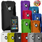 New Stylish Silicone Grip Series Case Cover Fits For Apple iPhone 3G 3GS 3G S