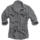 SURPLUS WOODCUTTER RETRO STYLE CHECKED MENS SHIRT LONG SLEEVE 100% COTTON BLACK