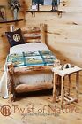 WESTERN CORRAL LOG BED complete bed - Ships Free in 1-3 Business Days