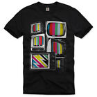 TV RETRO Testbild T-Shirt sheldon test pattern Monitor sitcom Fernseher S-3XL