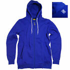 New Park Men's Zip Hooded Sweatshirt Top Purple, Royal Blue M, L, XL