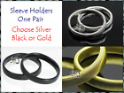 SHIRT SLEEVE HOLDERS,ARM BANDS,CHOICE OF SILVER,GOLD,BLACK SLEEVEHOLDERS