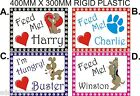 Personalised dog feeding mat with non slip feet 2 sizes A4 OR A3 pet gift idea