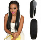 "28""-16""Top Quality Unprocessed Virgin Human Hair easy clips in Half Wig 3/4 Wigs"