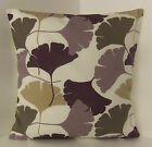 NEW SINGLE CUSHION COVERS  RETRO 60s STYLE PURPLE LILAC BEIGE WHITE