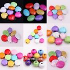 Multi-color Round/Heart/Oval Cracks Turquoise Spacer Beads For Marking Jewelry