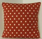 CUSHION COVERS SPOTTED RETRO 60s STYLE RED WHITE POLKA DOT  SPOTS SINGLE