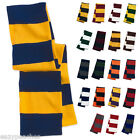 Rugby Striped NEW Knit Winter Scarf School TEAM COLORS College PRO Football SP02