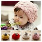 1 Pc Kids' Lovely Winter Soft Warm Wool  Knit Crochet Beanie Hat 1-5 Years