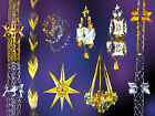 CHRISTMAS DECORATIONS SILVER & GOLD TRADITIONAL-LANTERNS CHANDELIERS GARLANDS