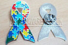 Autism Awareness Ribbon, Lapel pin, Tie Pin.