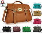 Womens Ladies Celebrity Designer Buckle Detail Fashion Satchel Shoulder Handbag