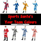 NEW Sports Santa's Football Team Colours Christmas Fancy Dress Costume