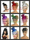Ladies Mini Top Hat Fancy Dress VARIOUS  COLOURS